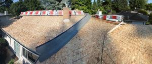 Zsindely tető felújítás osb lemezek csíkozva